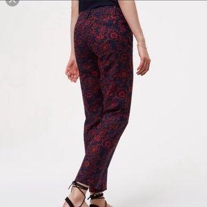 Loft Riveria Julie Print Pants